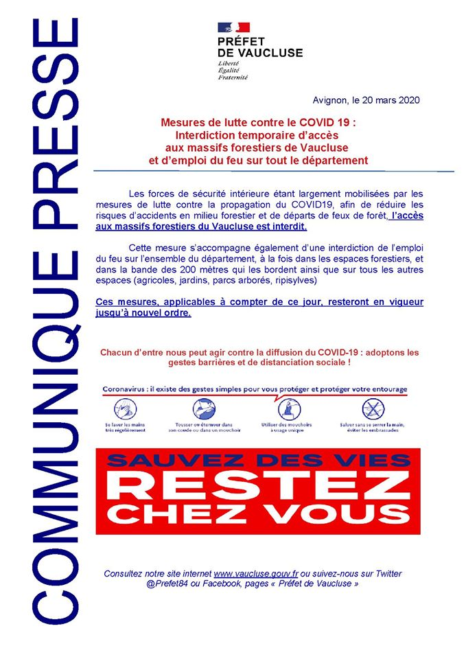 interdiction massifs forestiers